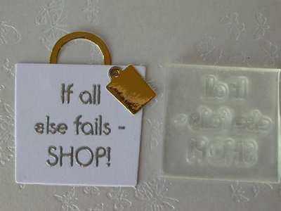 If all else fails - SHOP! small