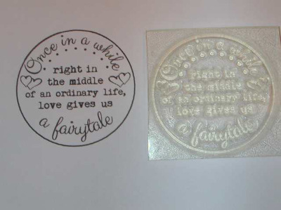 Circle stamp, Love gives us a Fairytale