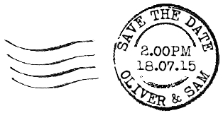 Personalised postmark stamp