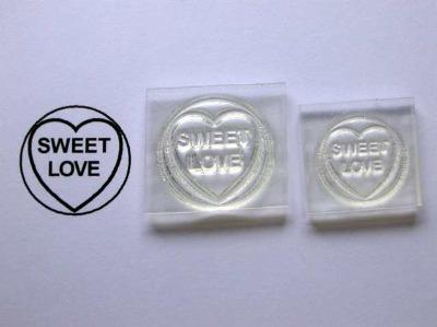 Love Heart stamp, Sweet Love, 1.9cm or 1.5cm