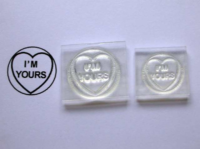 Love Heart stamp, I'm Yours, 1.9cm or 1.5cm