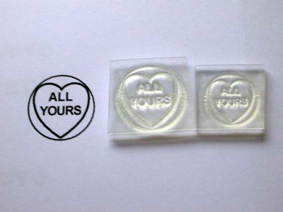 Love Heart stamp, All Yours, 1.9cm or 1.5cm