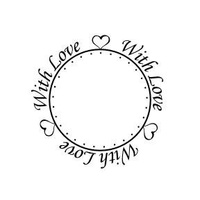Personalised With Love circle stamp