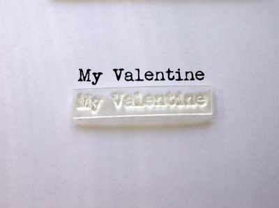 My Valentine typewriter stamp