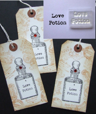 Love Potion, little typewriter stamp