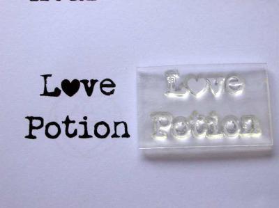 Love Potion, typewriter stamp