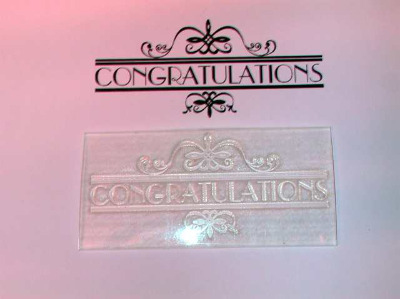 Congratulations, deco style banner stamp