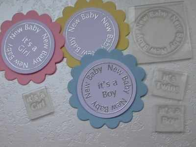 New Baby, circle stamp set