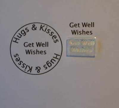 Get Well Wishes,  Little Words stamp