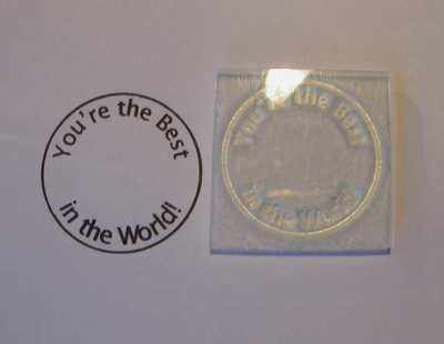 You're the Best in the World, circle stamp