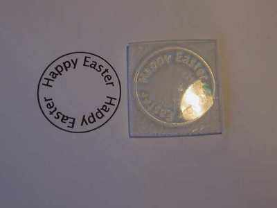Happy Easter, circle stamp