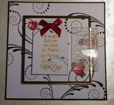 My Valentine, verse stamp