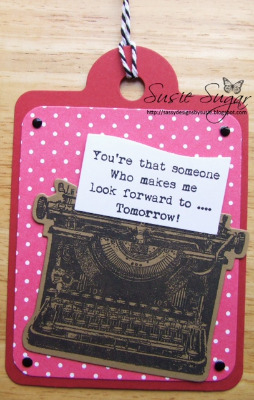 Look forward to tomorrow, typewriter verse stamp