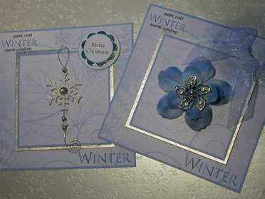 Winter paper toppers