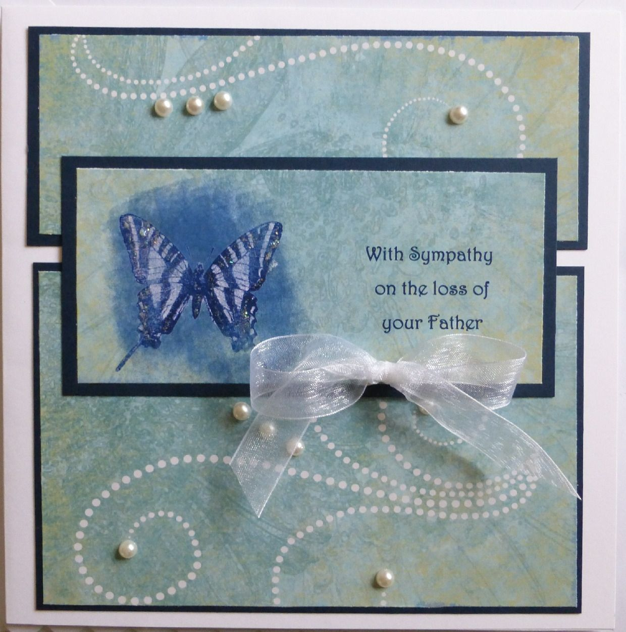 Personalised Sympathy Card, Handmade