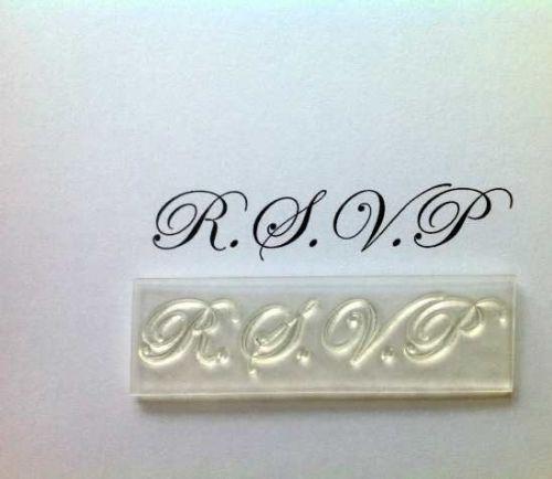 RSVP, upper case stamp