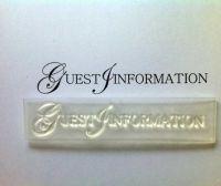 Guest Information, upper case stamp