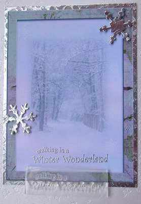 Walking in a Winter Wonderland, Christmas stamp