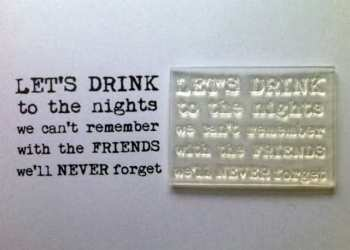 To the nights we can't remember, typewriter verse stamp