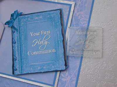 Your First Holy Communion, 3 line stamp