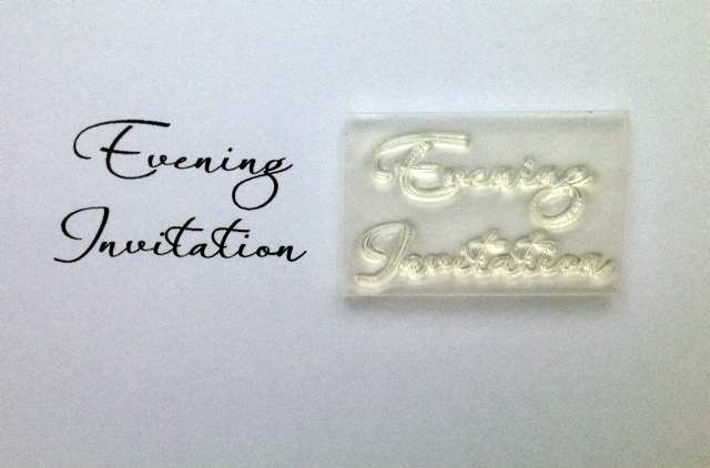 Evening Invitation, 2 line script stamp