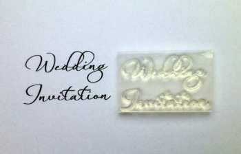 Wedding Invitation, 2 line script stamp