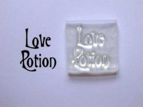 Love Potion, small Victorian style stamp