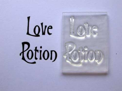 Love Potion, Victorian style stamp