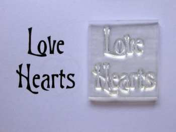 Love Hearts, Victorian style stamp