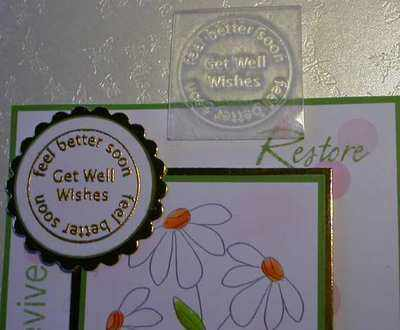 Get Well, circle stamp