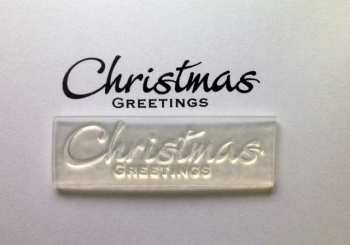 Christmas Greetings stamp 5.5cm