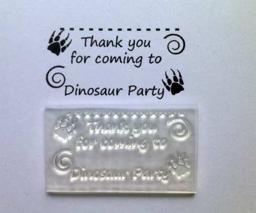 Dinosour Party favour stamp for tags