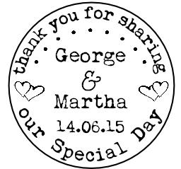 Personalised circle stamp, Thank you for sharing