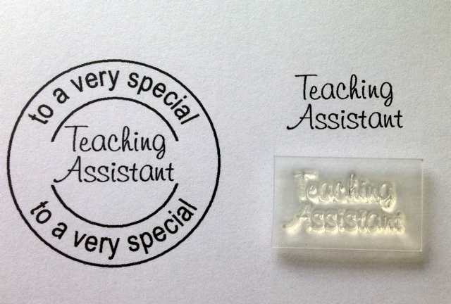 Teaching Assistant, little words stamp