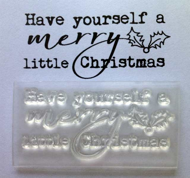 Have yourself a merry little Christmas typewriter stamp