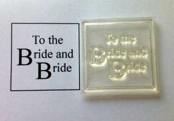 To the Bride and Bride framed stamp for girls