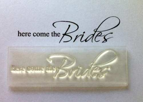 Here come the Brides, wedding stamp