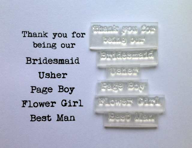 Thank you for being our, Bridesmaid etc set