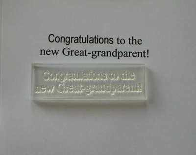 Congratulations to the new Great-grandparent! stamp