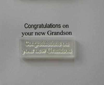 Congratulations on your new Grandson, stamp