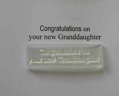 Congratulations on your new Granddaughter, stamp