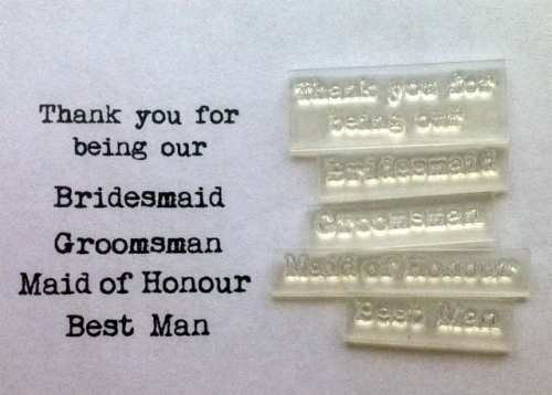 Thank you for being our, Groomsman etc set