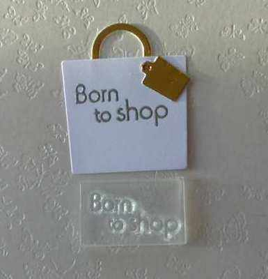 Born to shop, little stamp