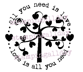 heart tree in circle