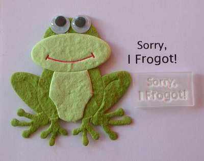 Sorry I Frogot!
