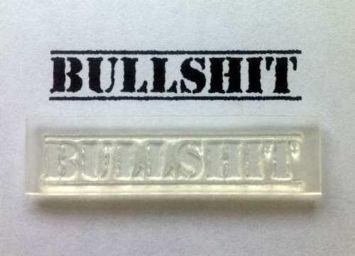 Bullshit lined stamp