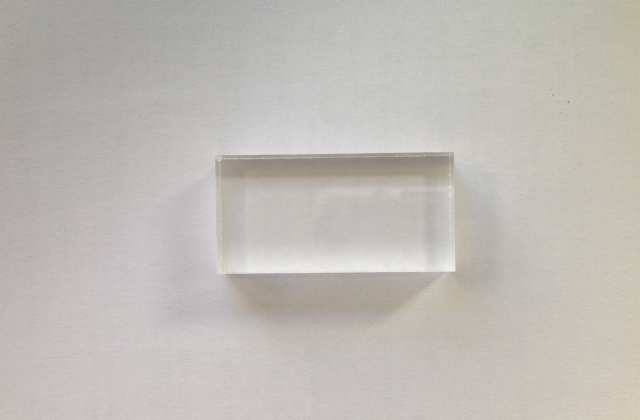 Acrylic block 5cm x 2.5cm