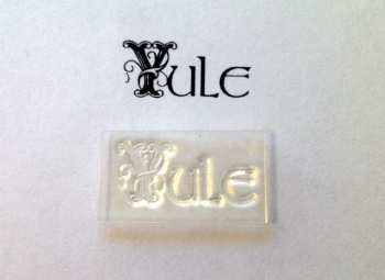 Yule, decorative text stamp