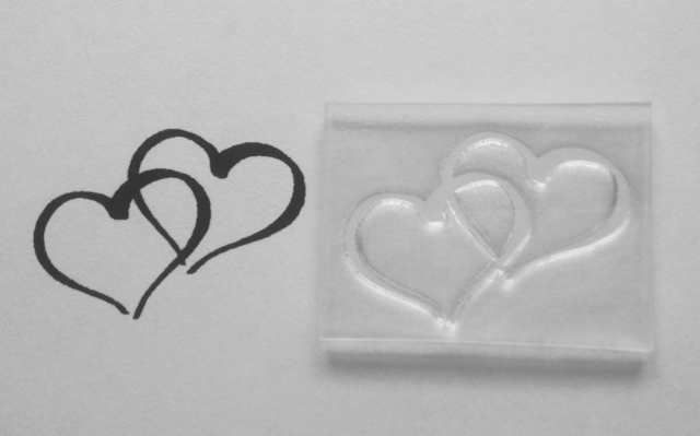 Two Hearts, clear stamp