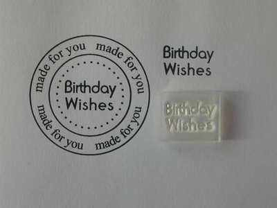 Birthday Wishes, Little Words stamp